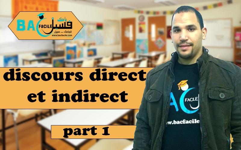 — 1 Discours direct et indirect — part