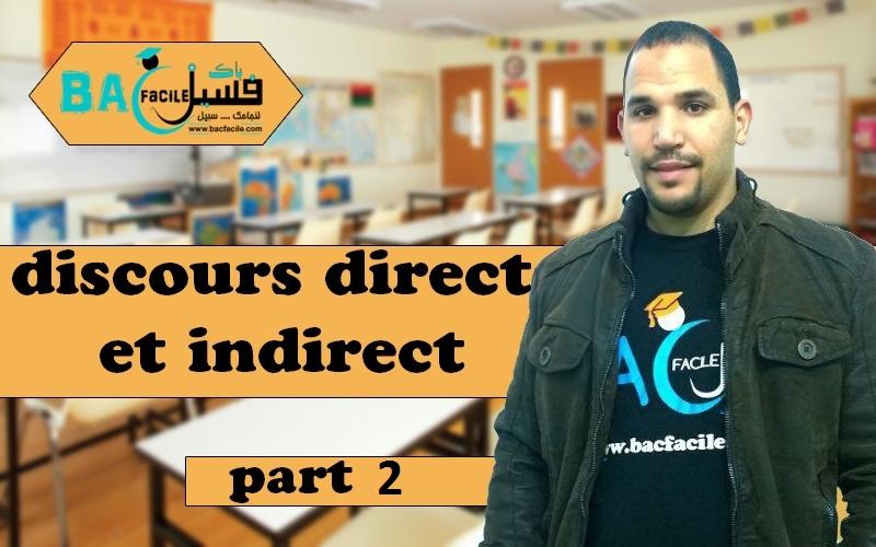 — 2 Discours direct et indirect — part